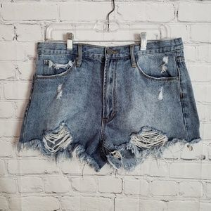 Articles of society distressed shorts